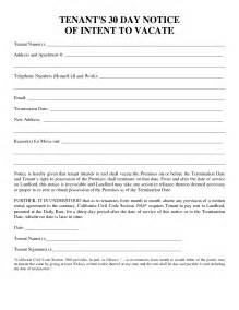 Renters 30 Day Notice Template by Notice To Vacate Letter To Tenant Template 30 Day Notice To Landlord Forms And Templates