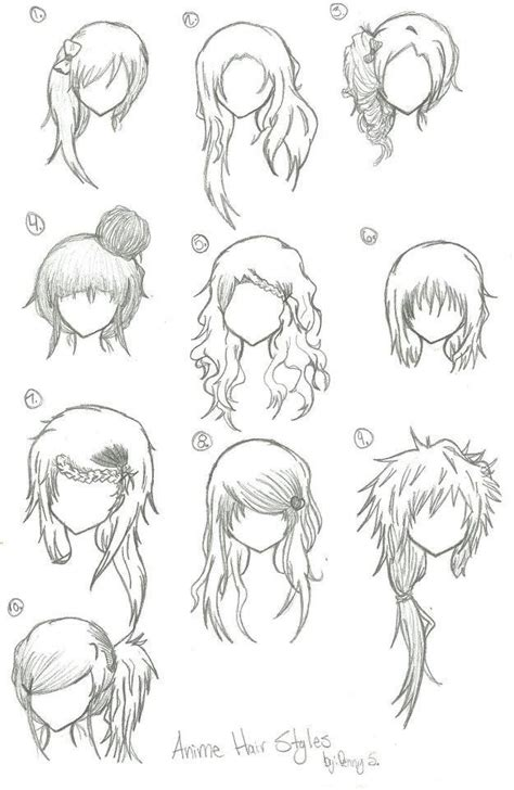 anime hairstyles hairstyles hairstyles anime manga drawing art bun curly