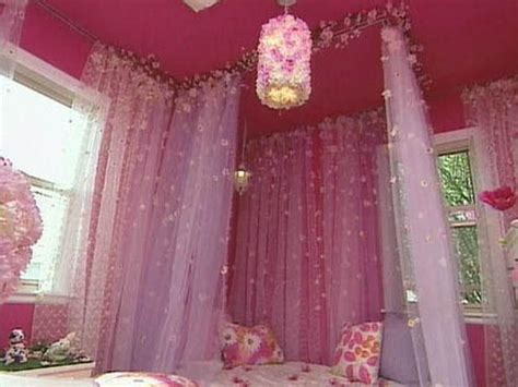 little girl canopy bed curtains kids room ideas for playroom bedroom bathroom hgtv