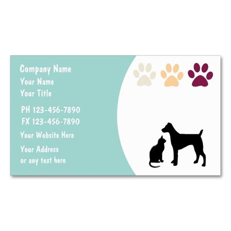 stuffed animal name card template pet care business cards business cards and business