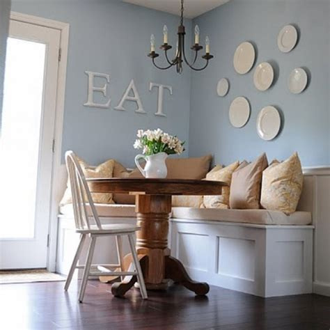 kitchen wall decorating ideas creating the breakfast nook table and chairs