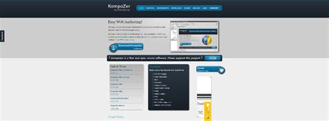 kompozer web design html editor top 10 best open source web design software 2018 1