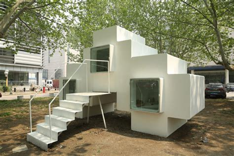 micro house micro house by studio liu lubin installed in beijing park