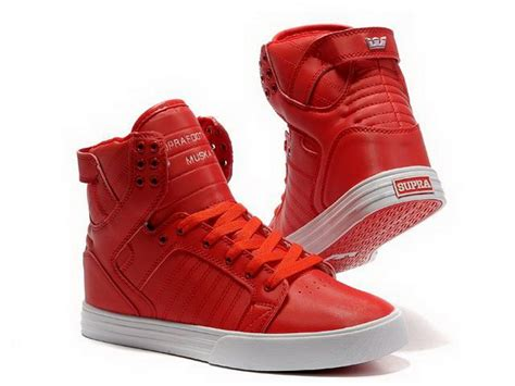 supra shoes womens c chad muska skytop high top womens red white red shoes the