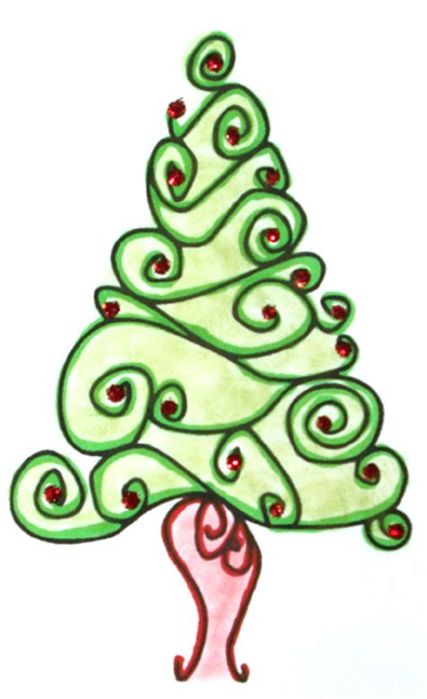 christmas tree swirl clipart clipart suggest