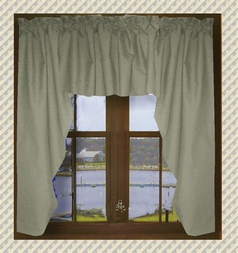 gray swag curtains solid medium gray swag window valance