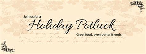 holiday potluck facebook invites recipe card