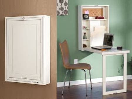 Ikea Computer Armoire Space Saving Fold Out Convertible Desk By Dealfind