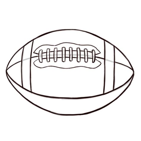 football outline template football laces outline clipart panda free clipart images