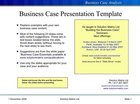 business case presentation template ppt affordable