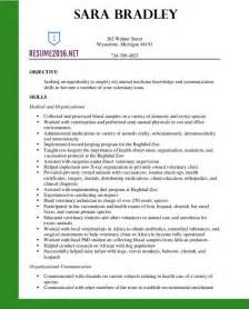 Veterinary Assistant Sle Resume by Resume Exles 2016 Archives Resume 2016