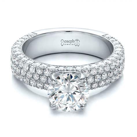 custom pave engagement ring 100770