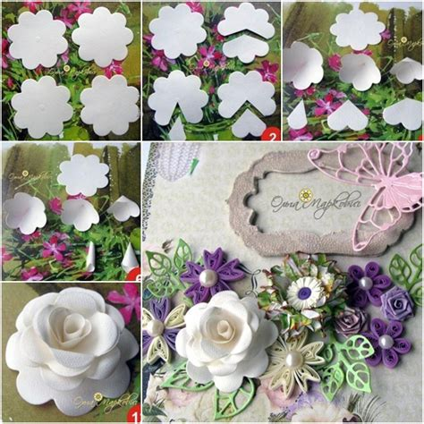 diy paper flower template how to diy easy paper from template