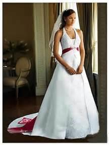 White wedding dress with red trim david s bridal wedding dressses