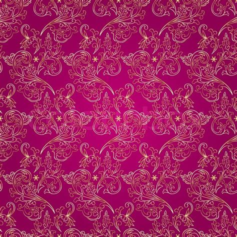 pink vintage pattern background floral vintage seamless pattern on pink background stock