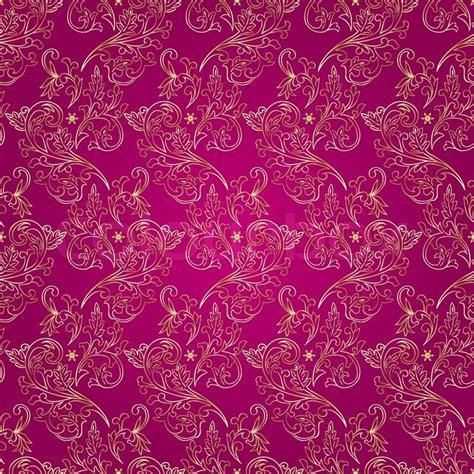 seamless pattern pink free floral vintage seamless pattern on pink background stock