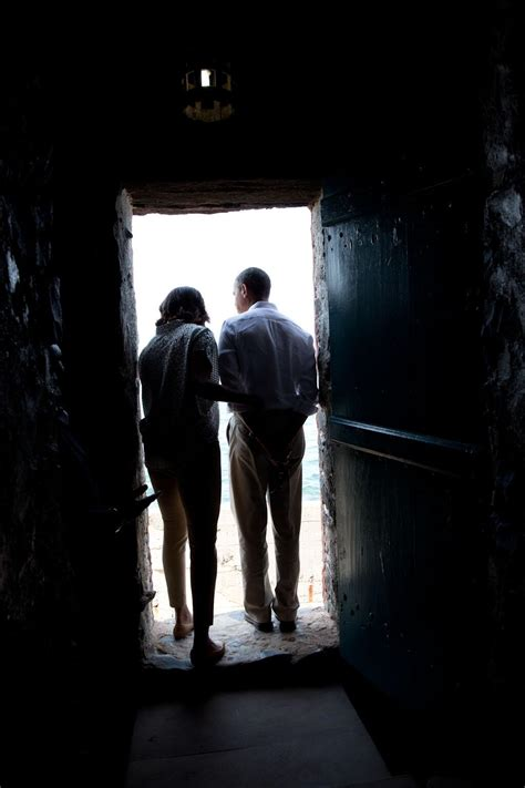 barack and speak with mandela family visit goree