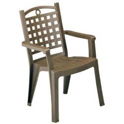 grosfillex fauteuil de jardin monobloc bora bronze pas