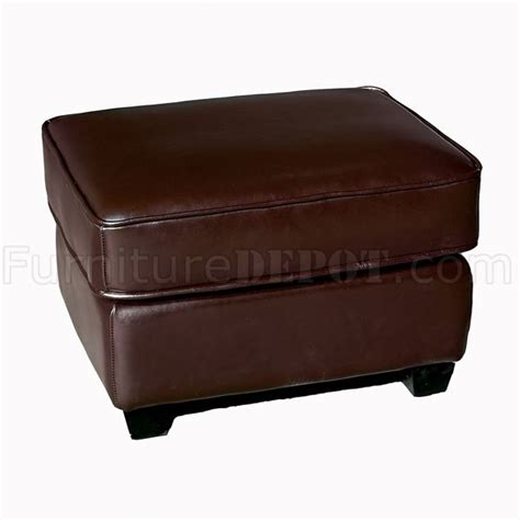 Light Brown Color Cube Shape Modern Leather Ottoman Light Brown Leather Ottoman