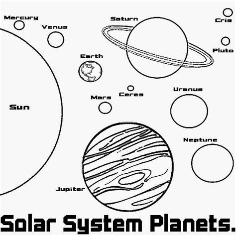 Solar System Printable Coloring Pages solar system coloring pages to print az coloring pages