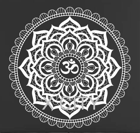 black and white om wallpaper aliexpress com buy mandala pattern yoga wall decal