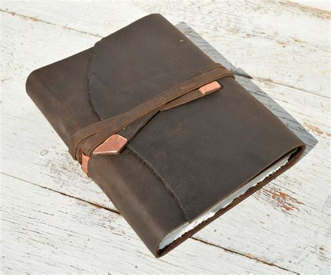 Handmade Leather Bound Journal - buy a made leather bound handmade travel