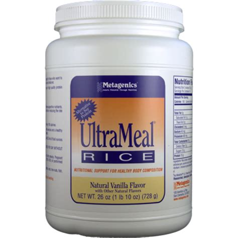 Metagenics Protein Powder Detox by Metagenics Ultrameal Rice Vanilla 26 Oz Powder The
