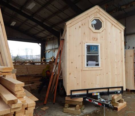 8x16 cross gable tiny house on a trailer 60 best images about tiny houses on wheels jcs on