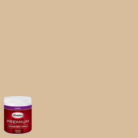 glidden premium 8 oz hdgy24u desert valley gold eggshell interior paint with primer tester