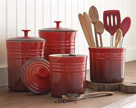 stylish food storage containers for the modern kitchen earthenware canisters set of 3 red contemporary food