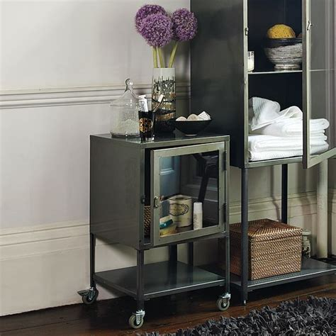 metal bathroom cabinet short industrial metal bath cabinet modern bathroom cabinets and shelves by west elm