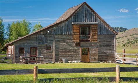 barn converted to house rezoned and repurposed 19th century montana barn