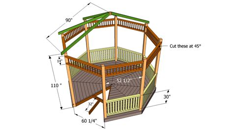 gazebo blueprints oval gazebo construction plans