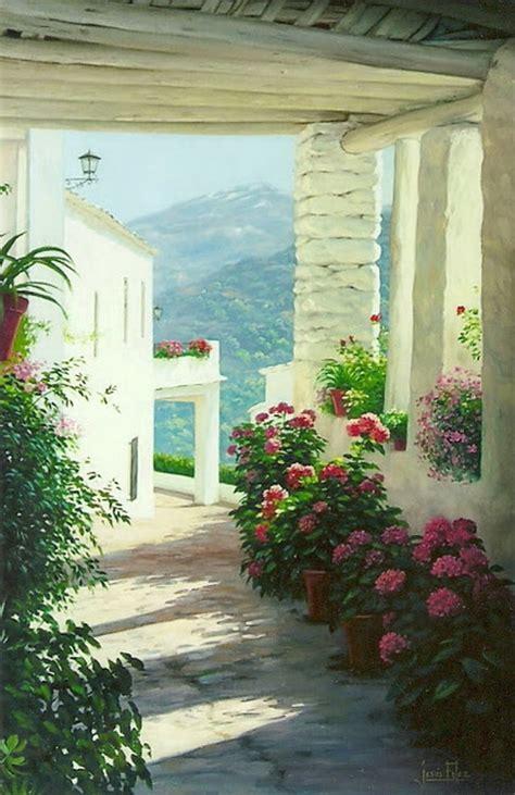 pinturas de patios andaluces cuadros modernos pinturas y dibujos paisajes de patios