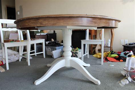 spray painting kitchen table seattle apartment willcraftforfood
