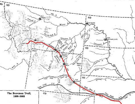bozeman trail map by nic 171 bozeman history