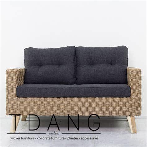 tdang furniture bradenton wicker sofa 2 seats
