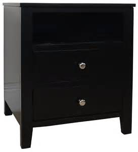 Ready Made Sideboards Brooklyn Black Bedside Table Bedroom Furniture Direct