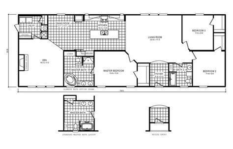 manufactured home floor plan 2006 clayton cumberland floorplan 4606 rocketeer 6 76x28 8 fl 57roc28763bh