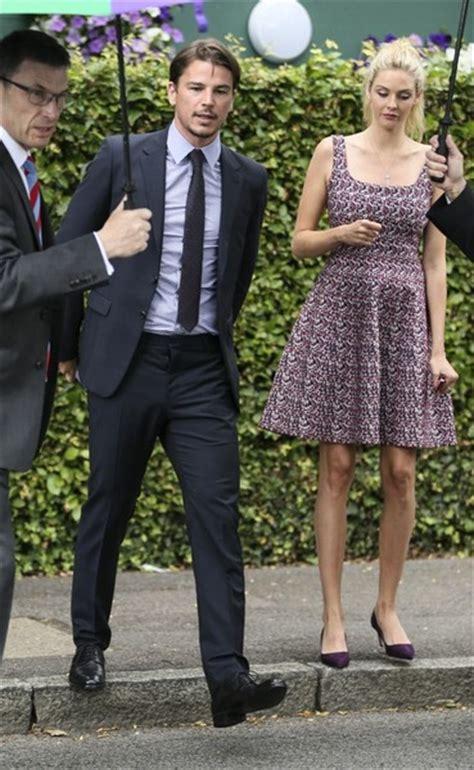 pregnant tamsin egerton and josh hartnett spotted at wimbledon daily josh hartnett and tamsin egerton at 2015 wimbledon