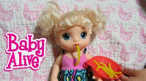 Boneka Baby Alive Snack Snackin Noodles Doll baby alive new snacks snackin noodles baby doll unboxing by baby alive channel