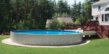 Backyard Billiards Semi Inground Pools Royal Swimming Pools