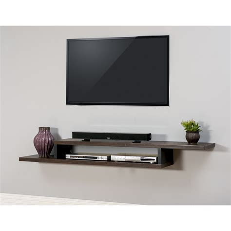 floating shelves tv martin home furnishings ascend 72 quot asymmetrical wall mounted tv component shelf reviews wayfair