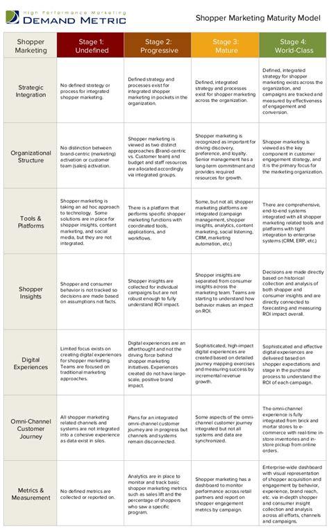 customer profile template demand metric shopper marketing maturity model