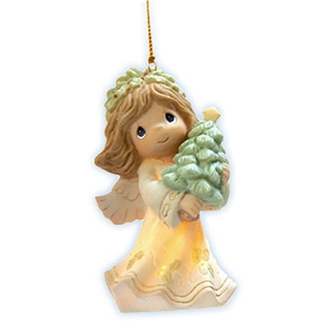 angel holding christmas tree precious moments ornament
