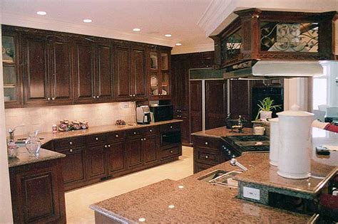 cherry mahogany kitchen cabinets faux mahogany graining over poplar kitchen cabinets