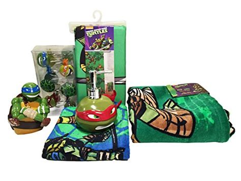 tmnt bathroom decor teenage mutant ninja turtle 6pc bathroom accessory set