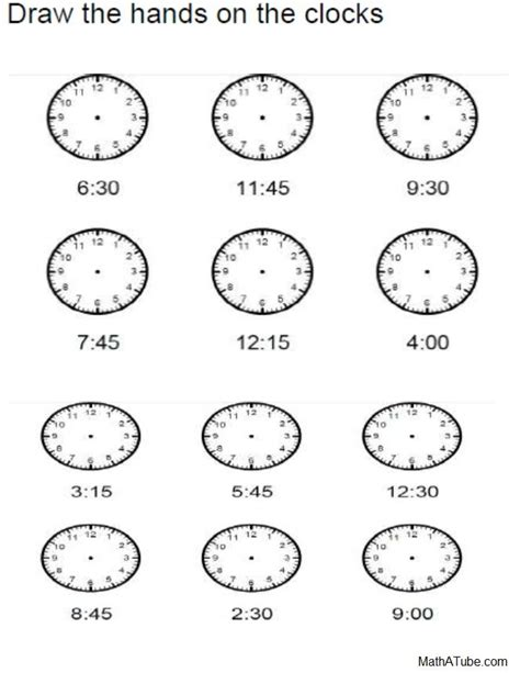 printable student clock 22 best images about telling time printables on pinterest
