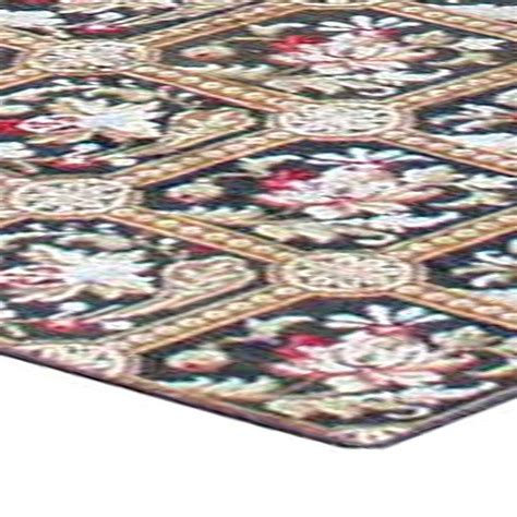 Needle Point Rug by Needlepoint Rug European Rug Antique Rug Bb0650 By