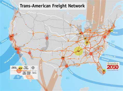 american rail network map our maps america 2050